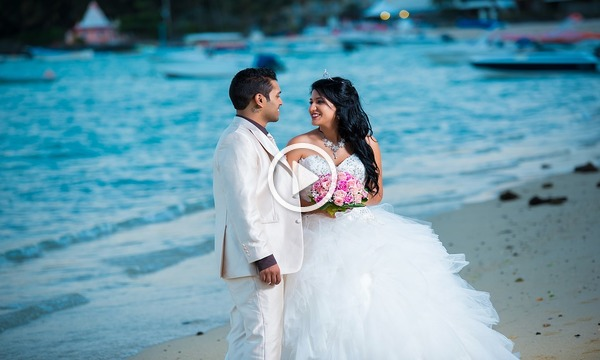 Beach Wedding Photo Invitation