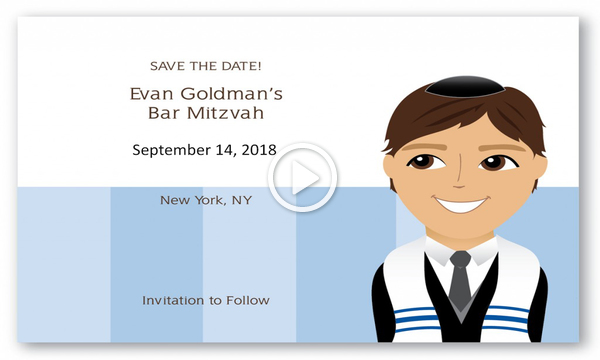Bar Mitzvah - Save The Date - Invite