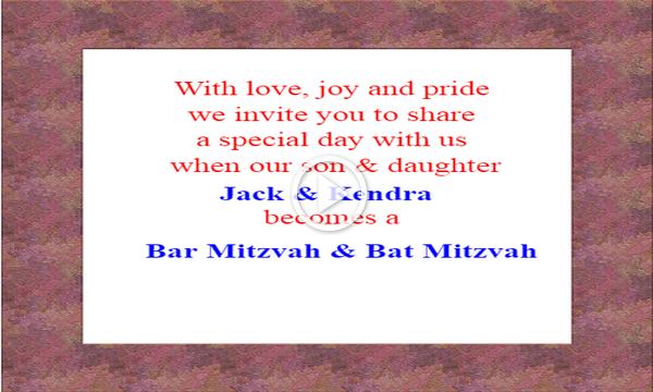 Bar & Bat Mitzvah Celebration