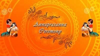 Annaprasana Video Invitation Template