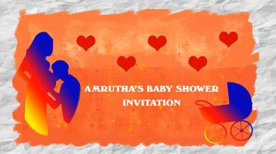 welcome baby girl invitation