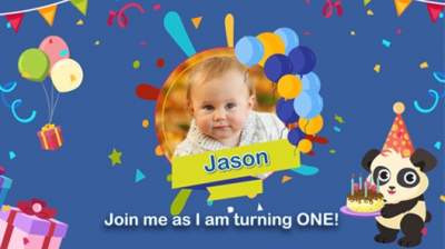 Animated Birthday Invitation Videos With Online RSVPs