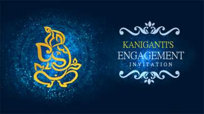 Create Custom Marathi Engagement Invitation Video Inviter