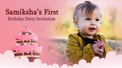 create birthday invitation videos with