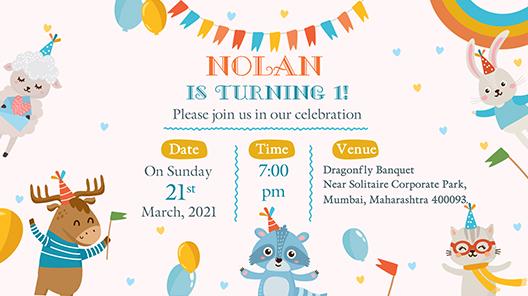 Birthday Video Invitation Ballerina First Birthday Video Evite Animated Invitation Swan Electronic Invite