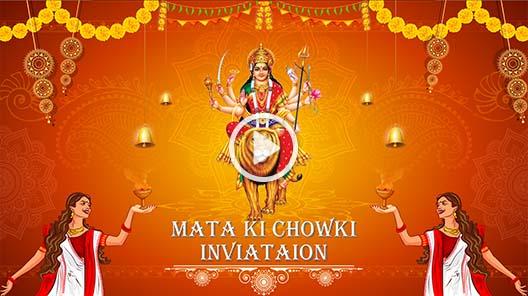 Mata Ki Chowki Pooja Video Invitations Inviter